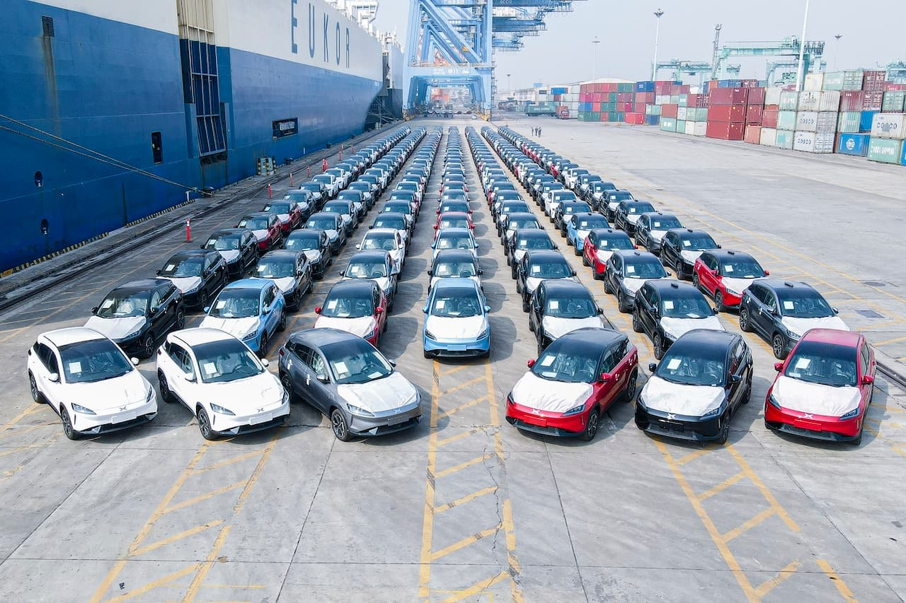Xpeng G3 Norway exports second batch Guangzhou port