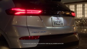 2022 Chevrolet Bolt EUV rear tail lamp teaser