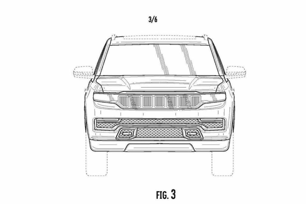 2022 Jeep Grand Wagoneer front patent image