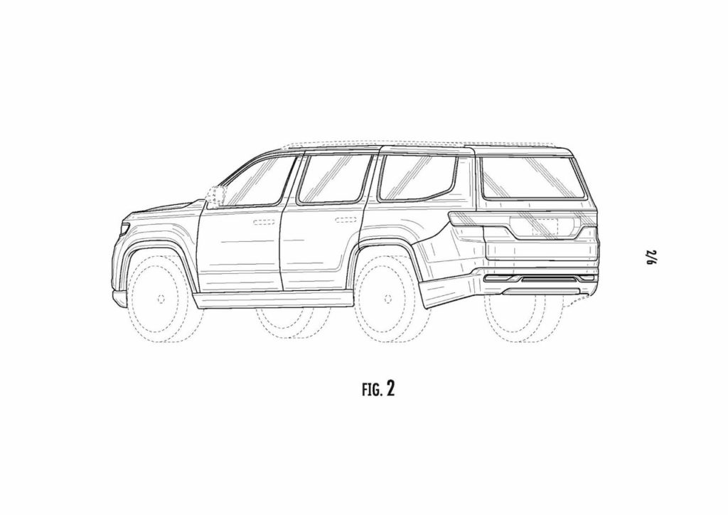2022 Jeep Grand Wagoneer rear quarters patent image