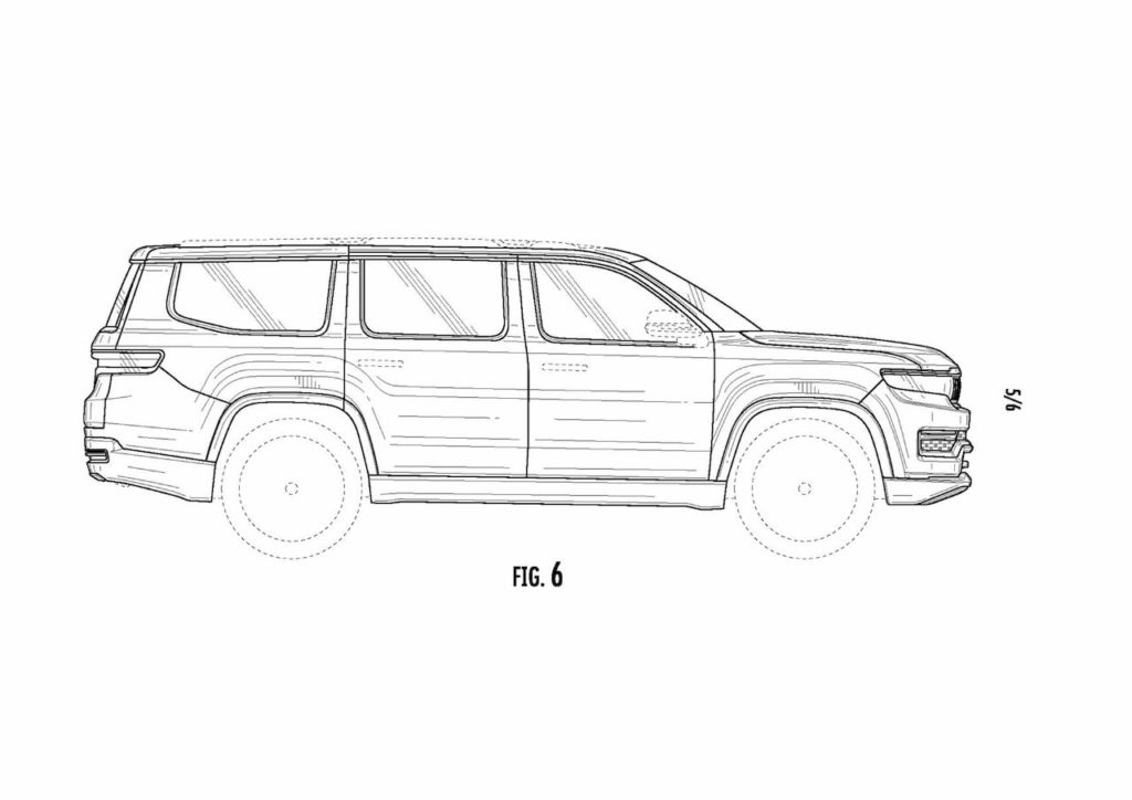 2022 Jeep Grand Wagoneer side patent image