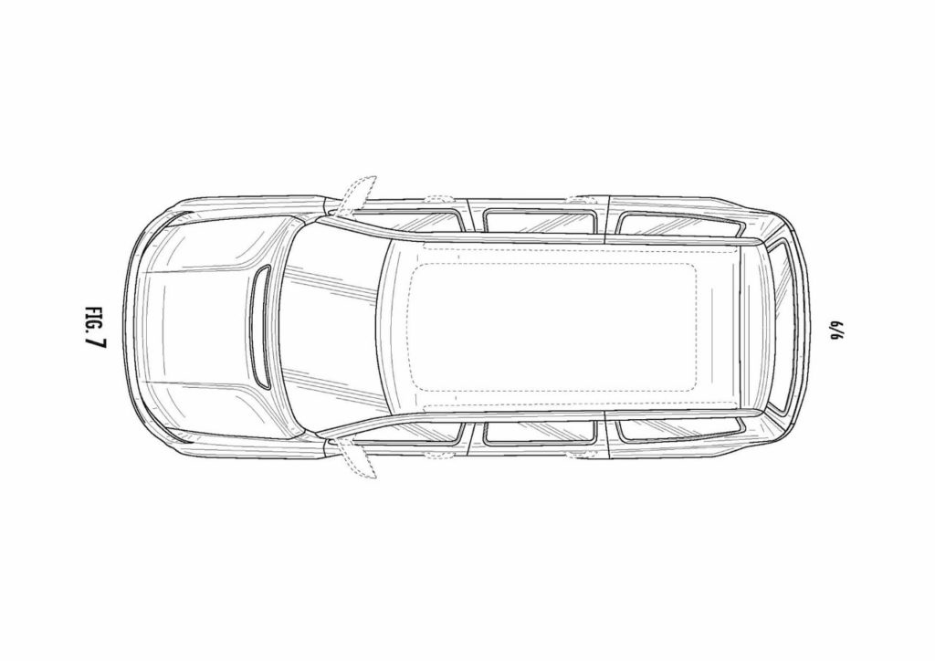 2022 Jeep Grand Wagoneer top roof patent image