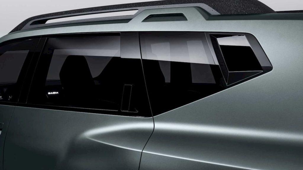 Dacia Bigster SUV concept rear windows