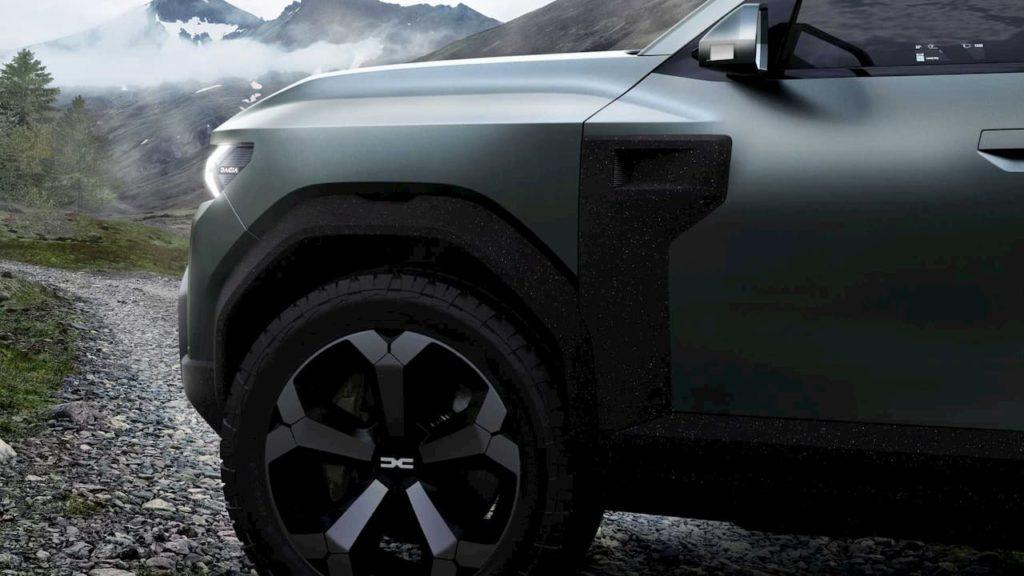 Dacia Bigster SUV concept sill