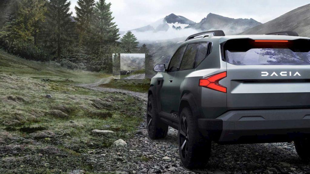 Dacia Bigster SUV concept taillight