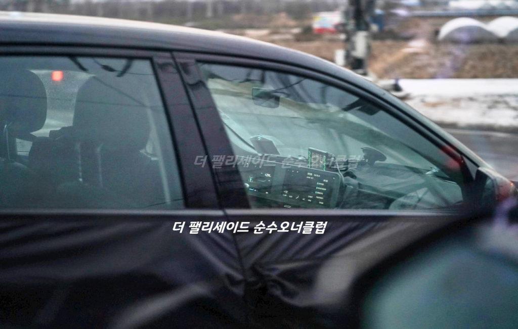 Hyundai Ioniq 5 interior spy shot