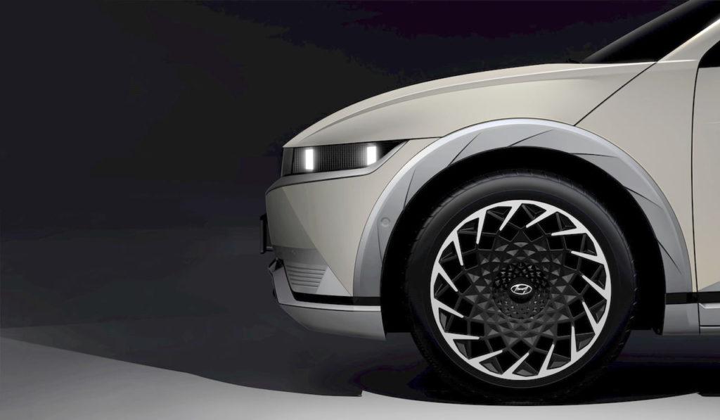 Hyundai Ioniq 5 side wheel teaser