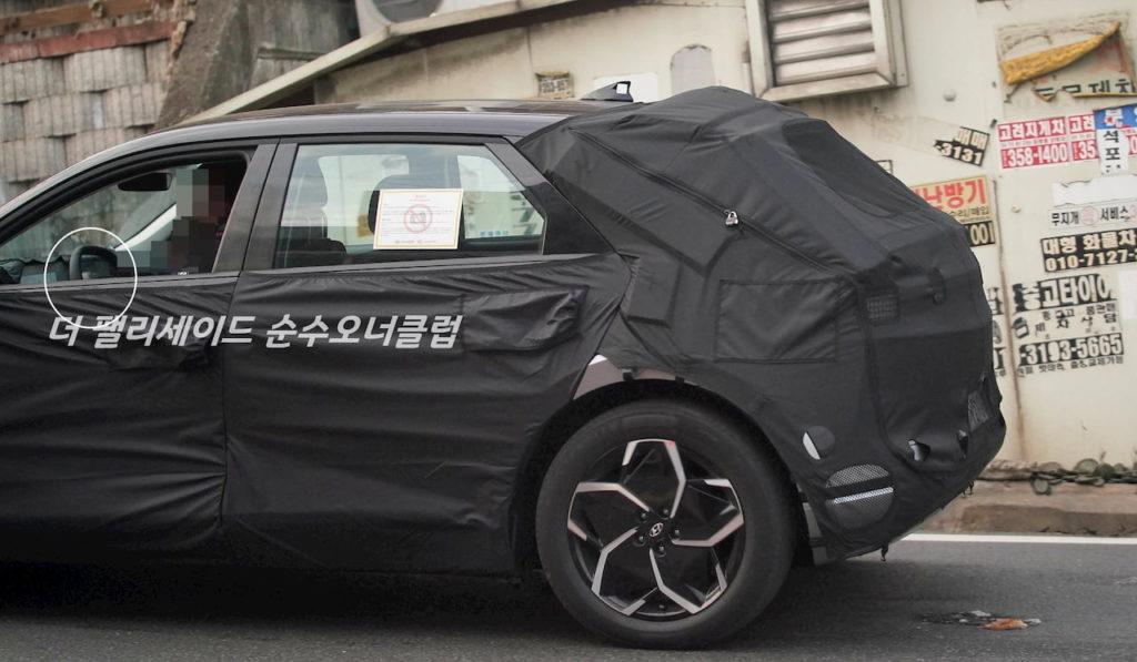Hyundai Ioniq 5 steering interior spy shot
