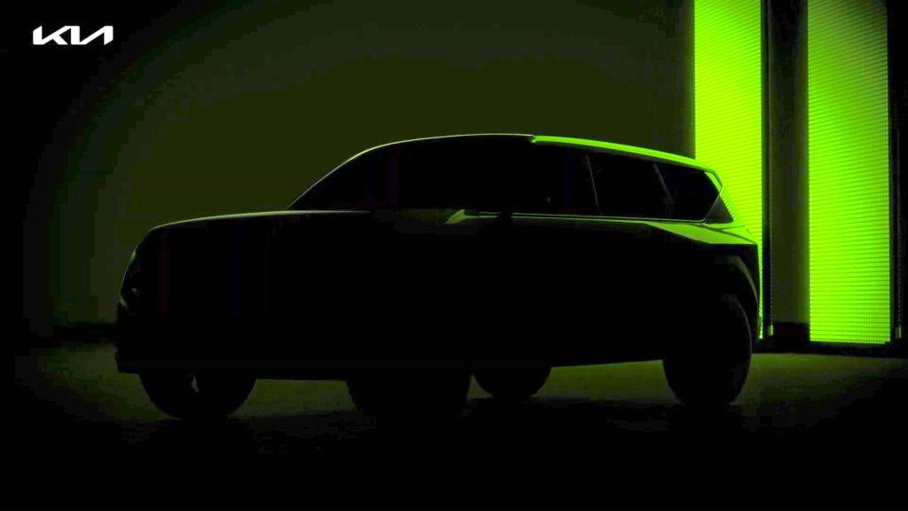 Teaser del SUV eléctrico Kia EV7 de Kia