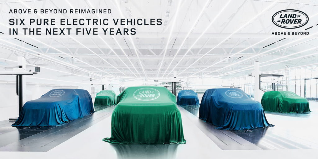 Land Rover EV electric SUV future models including the Range Rover Electric