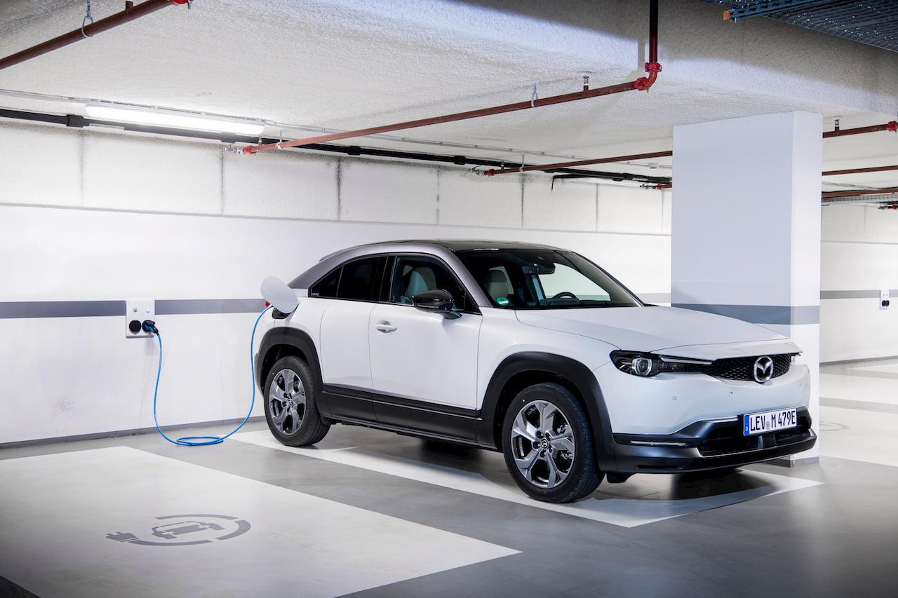 Mazda MX-30 EV electric charging
