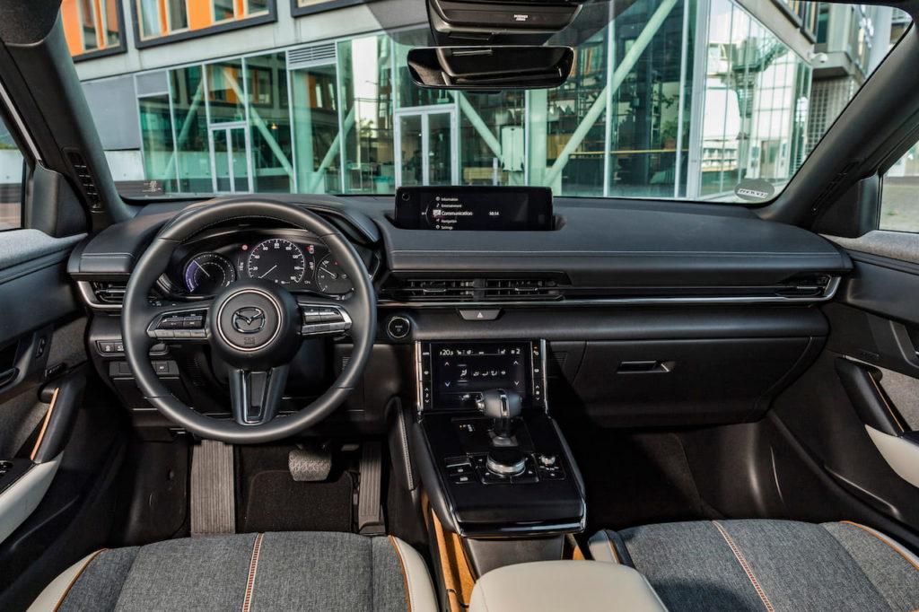 Mazda MX-30 EV electric interior dashboard