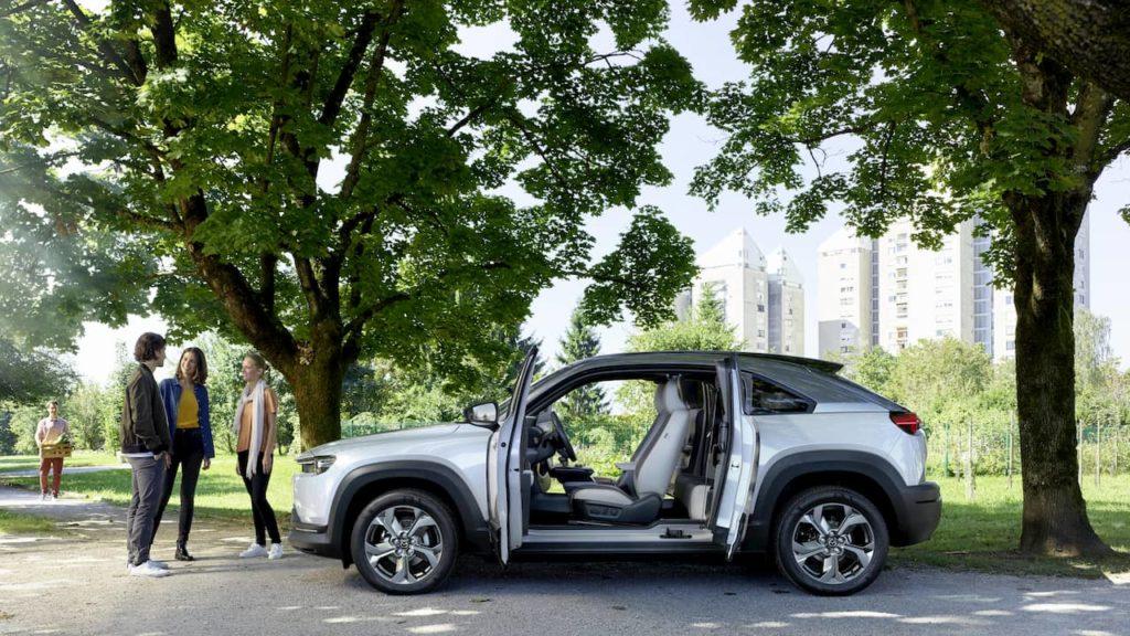 Mazda MX-30 EV electric suicide doors