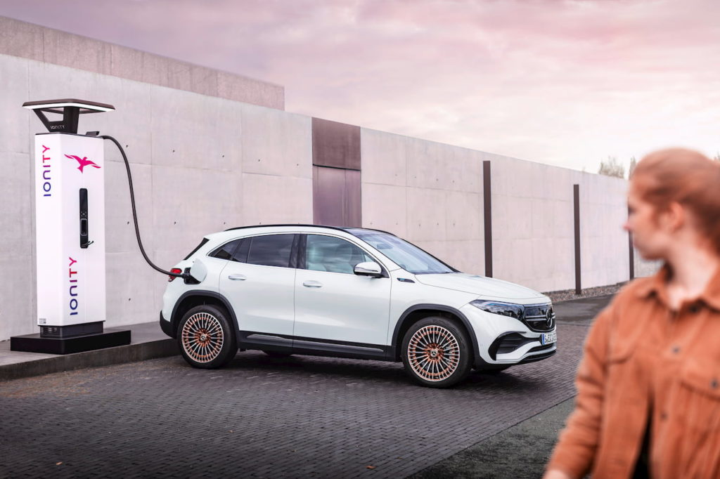 Mercedes EQA charging Ionity charger