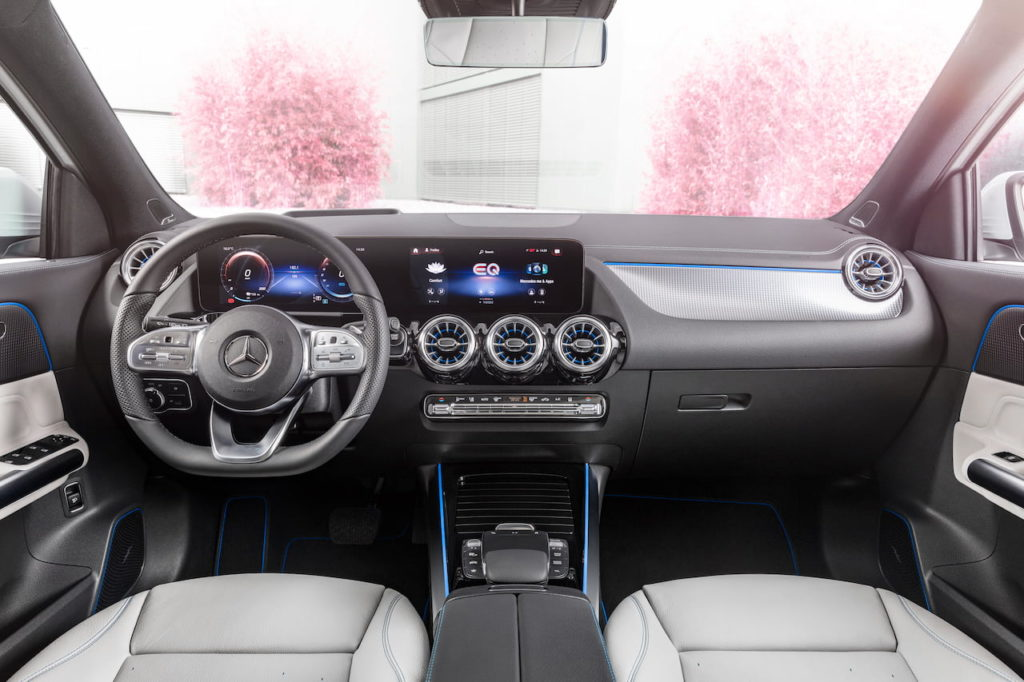 Mercedes EQA interior dashboard