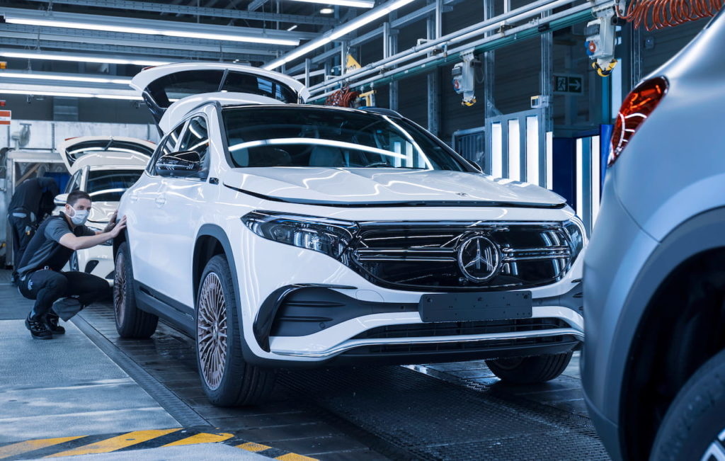 Mercedes EQA production line