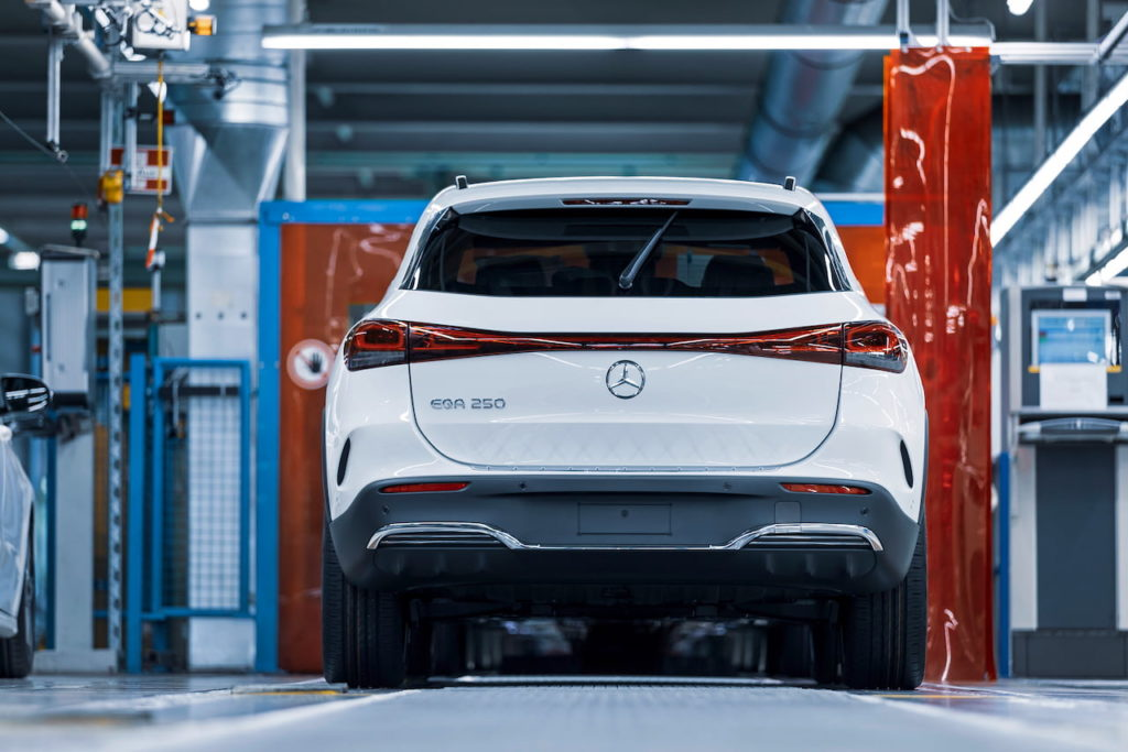 Mercedes EQA rear production Rastatt