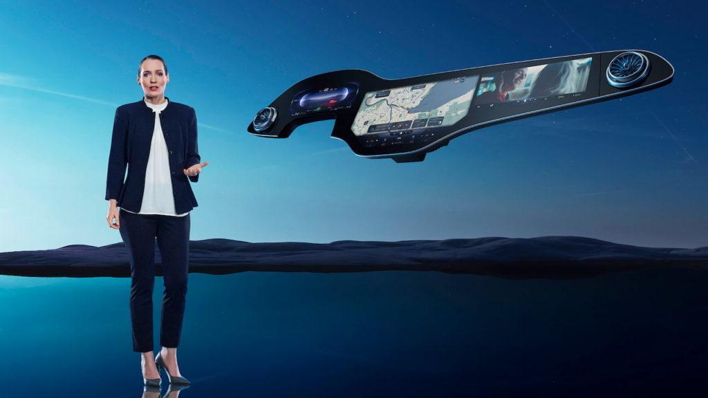 Mercedes EQS MBUX Hyperscreen Vera Schmidt