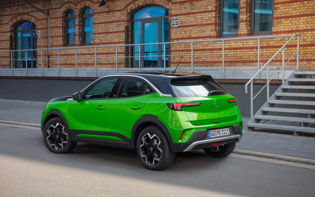 Opel Mokka-e electric rear quarters