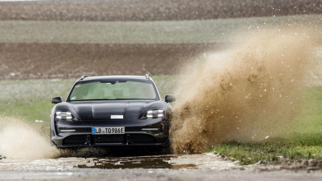 Porsche Taycan Cross Turismo front test mule