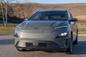 US-spec 2022 Hyundai Kona Electric front