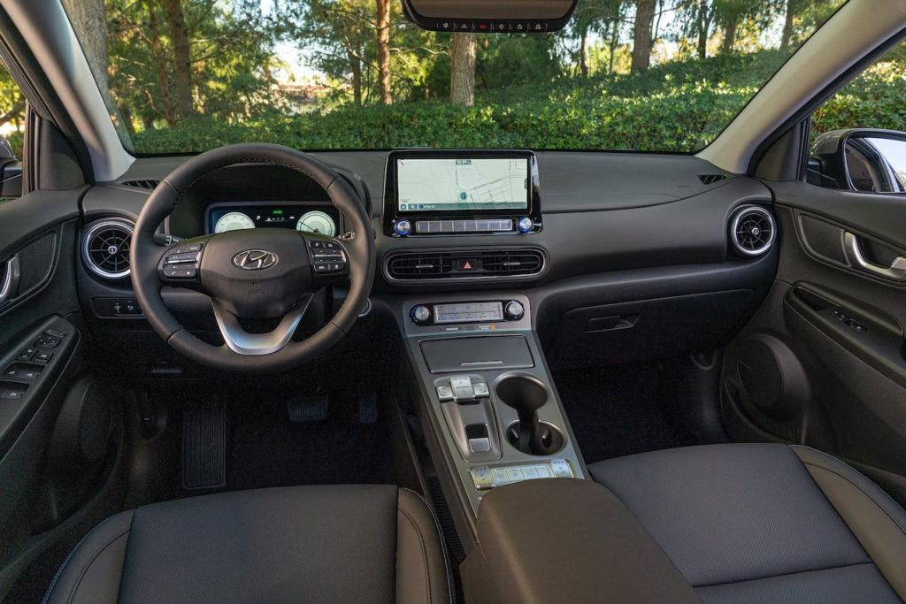 US-spec 2022 Hyundai Kona Electric interior dashboard