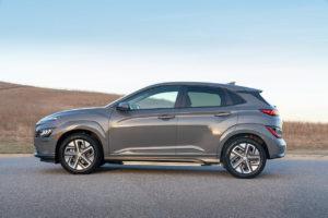 US-spec 2022 Hyundai Kona Electric profile side
