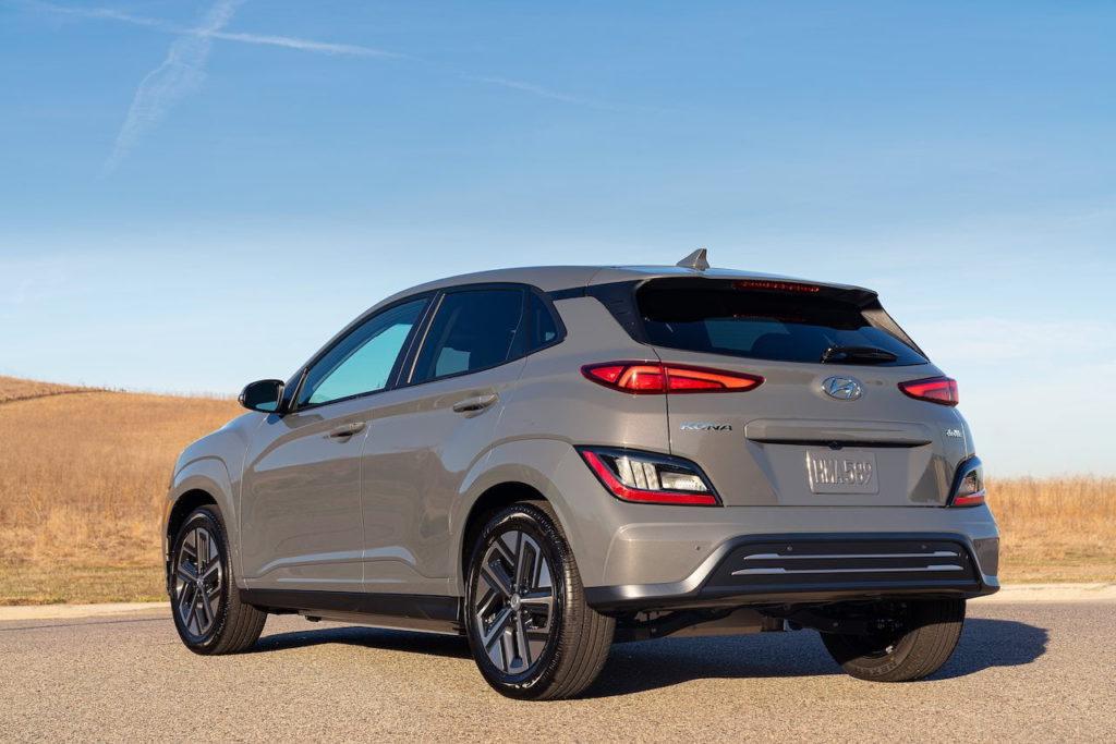 US-spec 2022 Hyundai Kona Electric rear quarters