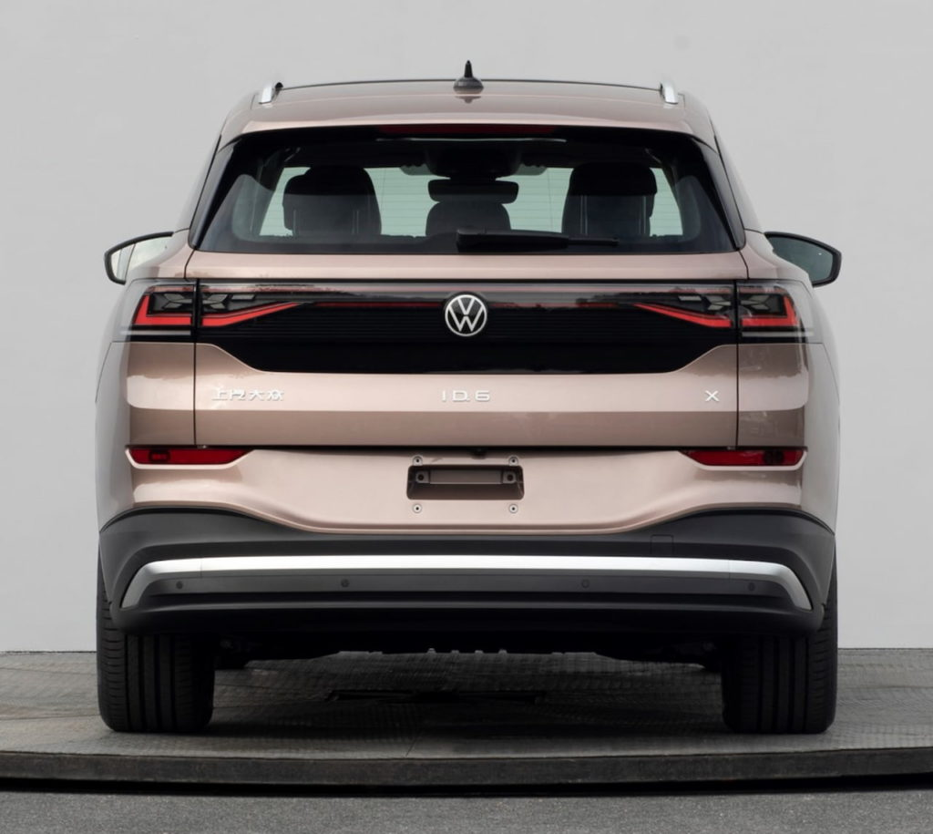 VW ID.6 X rear leaked