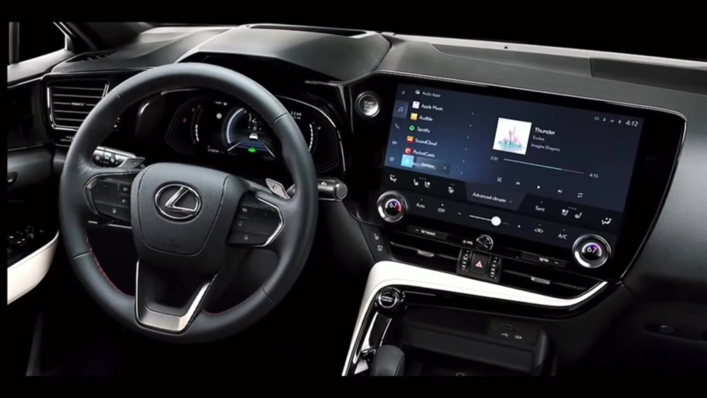2022 Lexus NX interior dashboard driver side leaked