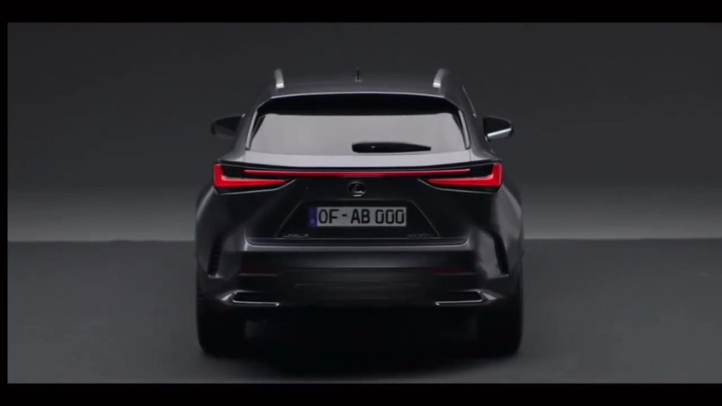 2022 Lexus NX rear leaked