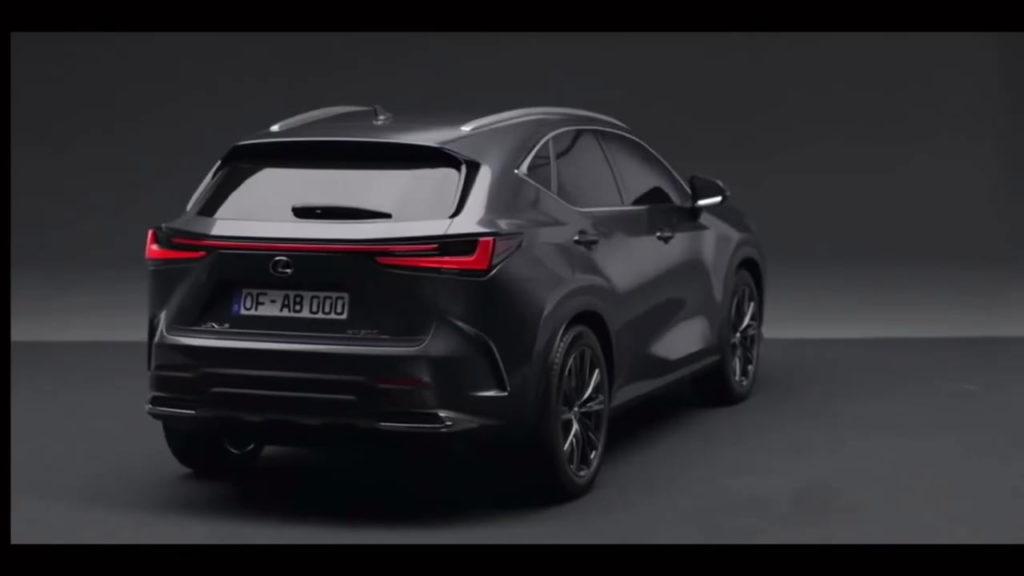 2022 Lexus NX rear quarters leaked