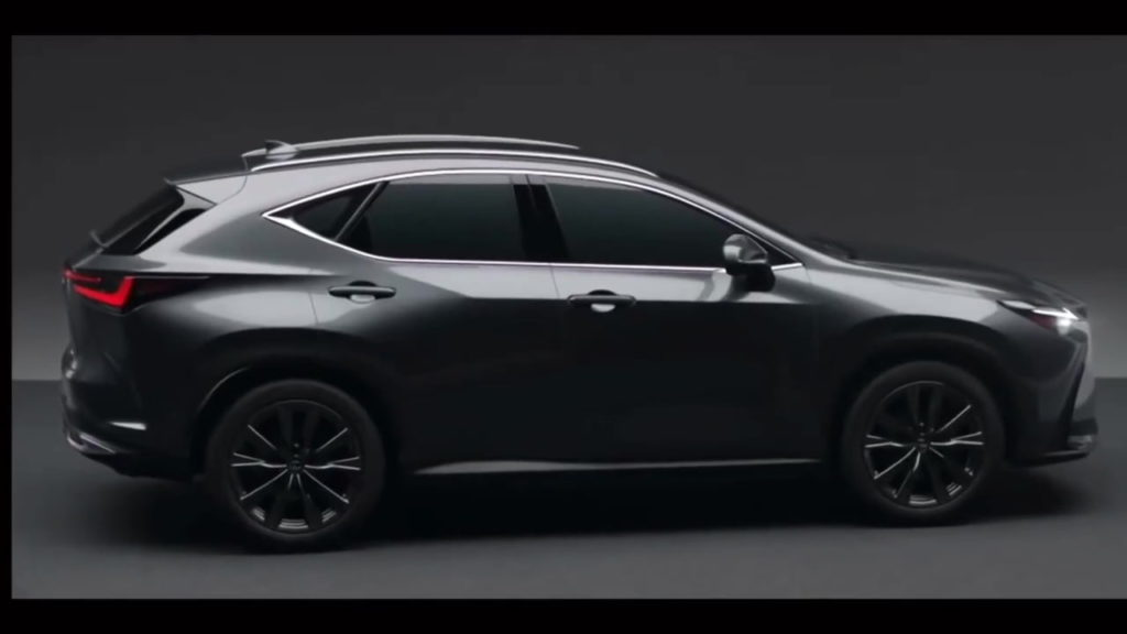 2022 Lexus NX side profile leaked