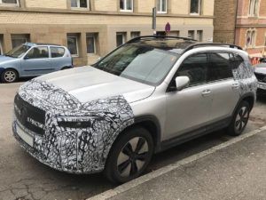 2022 Mercedes EQB front three quarters spy shot