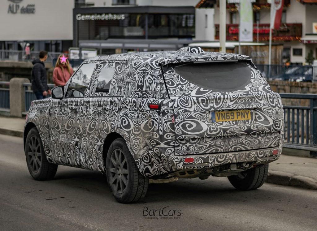 2022 Range Rover rear spy picture