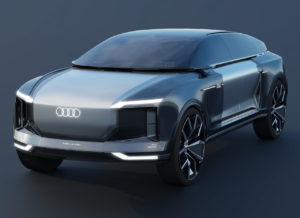 Audi electric SUV render front