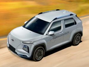 Hyundai AX1 electric micro-SUV rendering