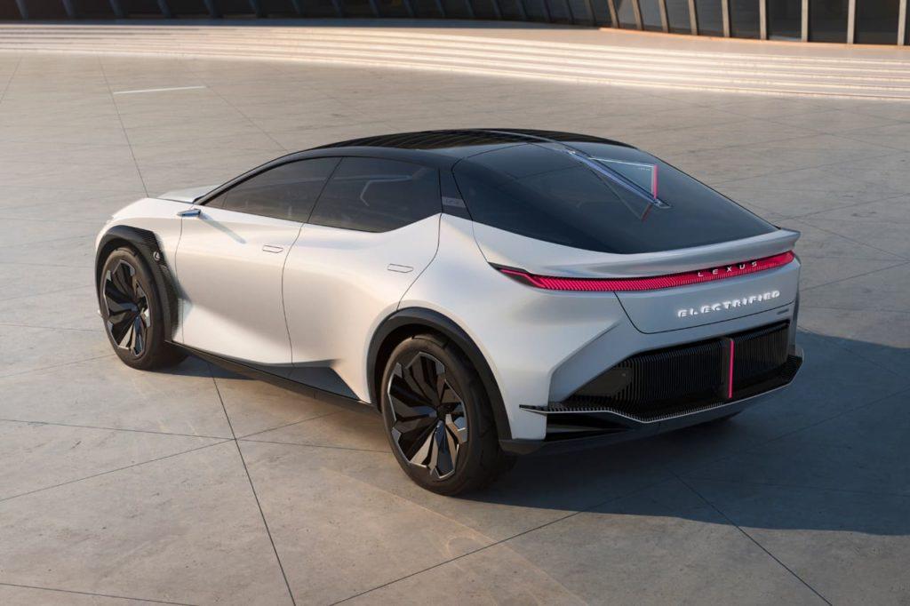 Lexus LF-Z concept rear three quarters