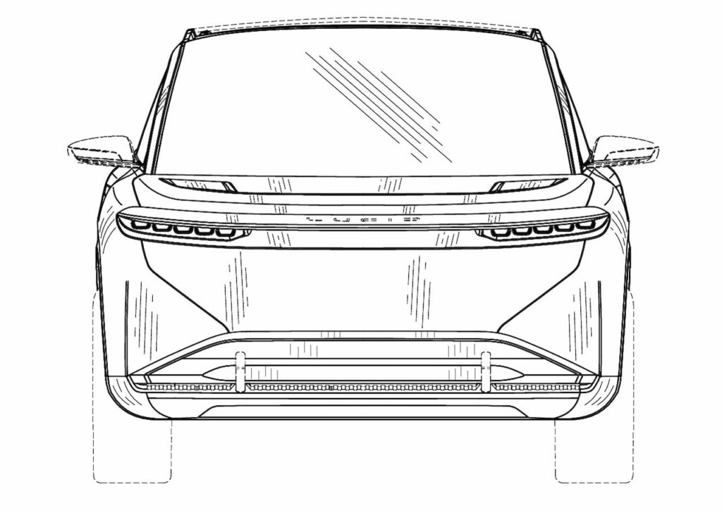 Lucid Gravity front patent image
