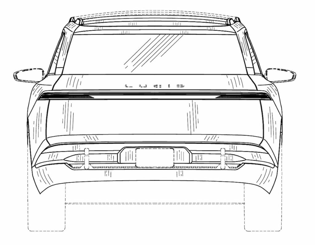 Lucid Gravity rear patent image