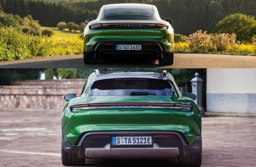 Porsche Taycan Cross Turismo vs. Porsche Taycan rear