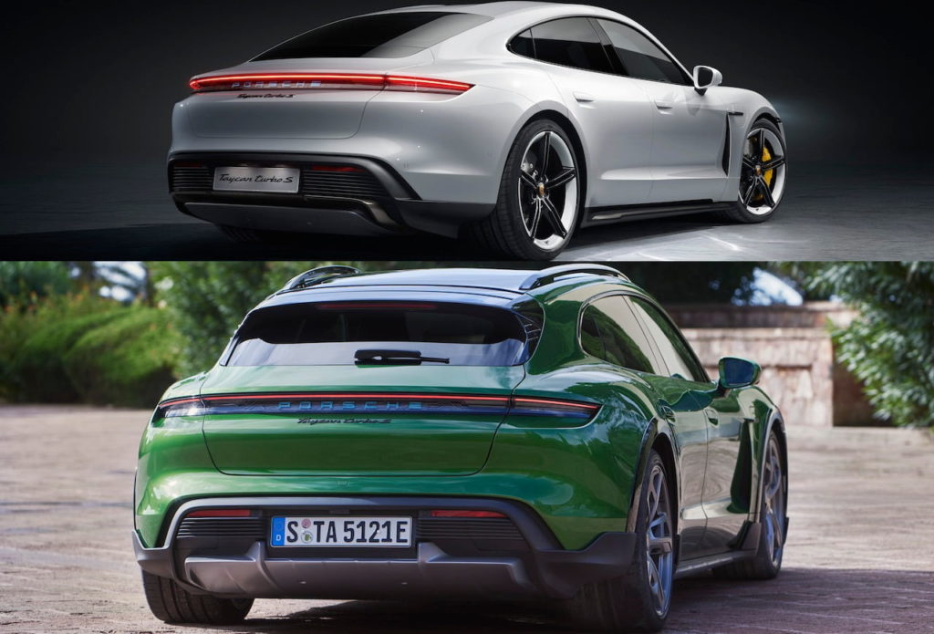 Porsche Taycan Cross Turismo vs. Porsche Taycan rear quarters