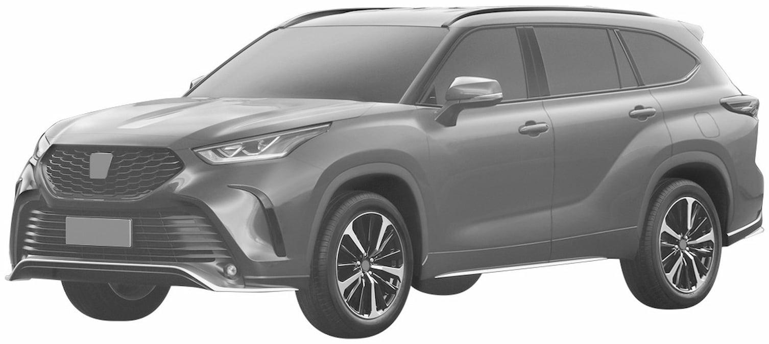 Toyota Crown Kluger front quarters