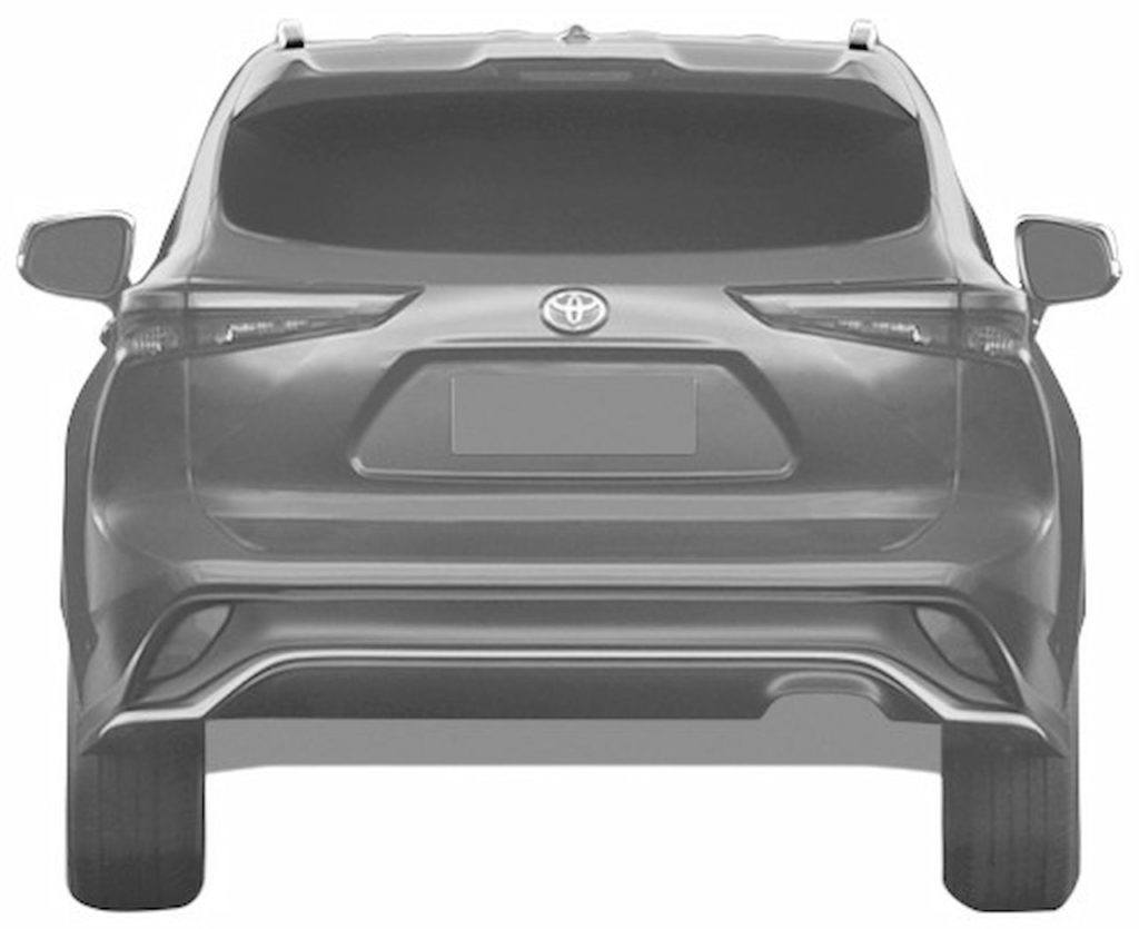 Toyota Crown Kluger rear patent