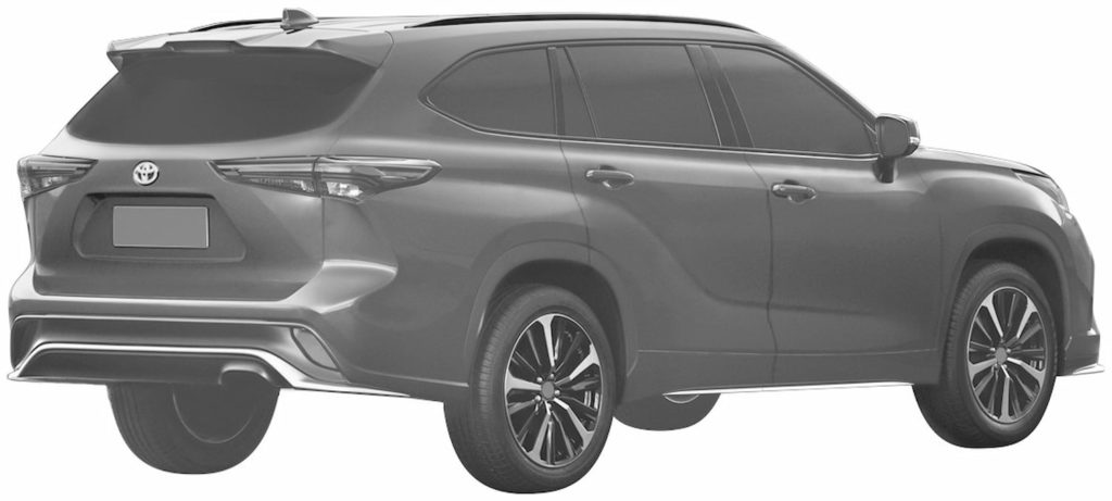 Toyota Crown Kluger rear three quarters patent