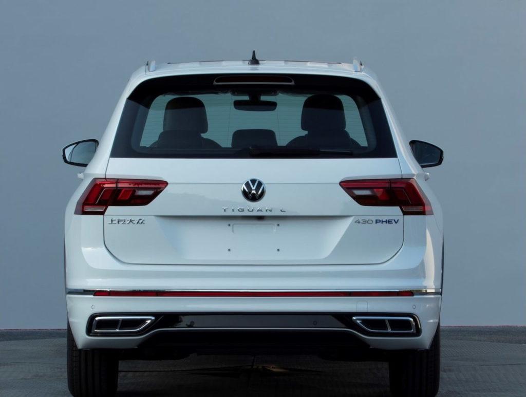 2021 VW Tiguan Allspace PHEV facelift rear