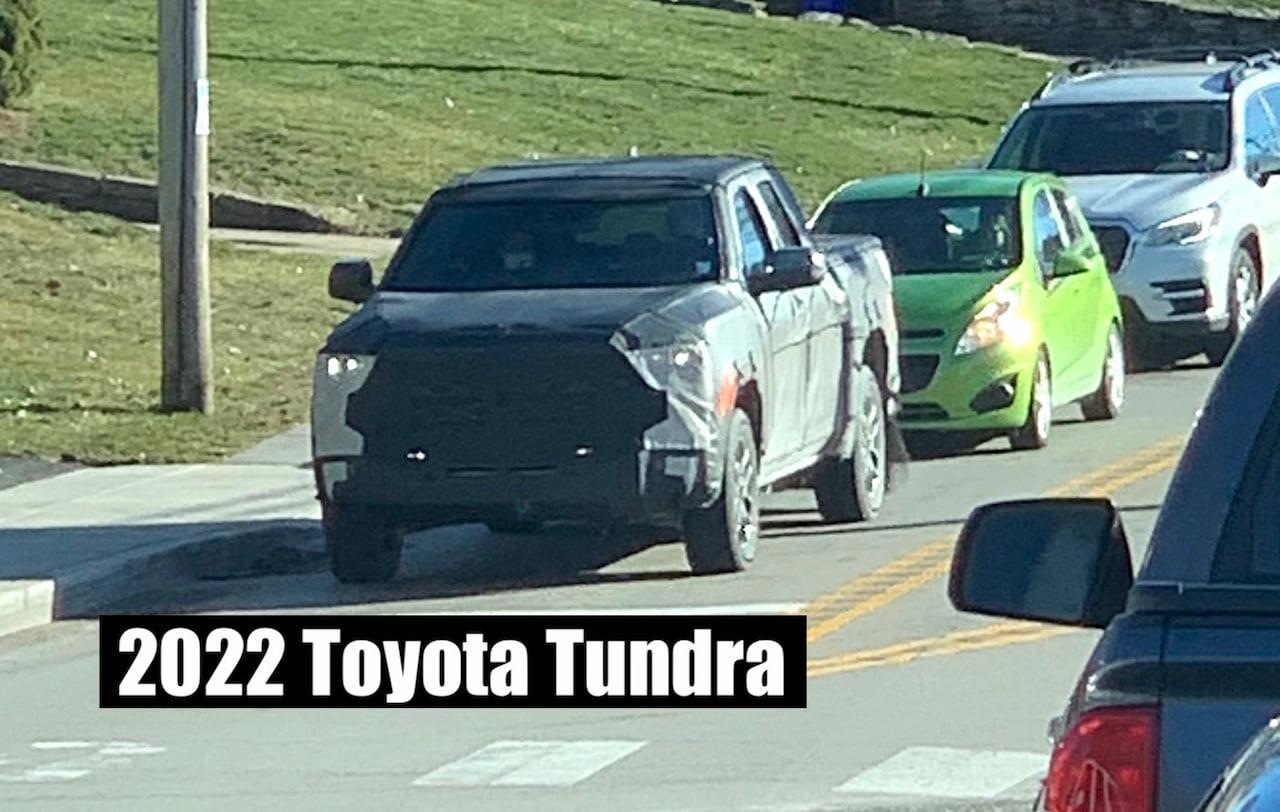 2022 Toyota Tundra front three quarters spy shot