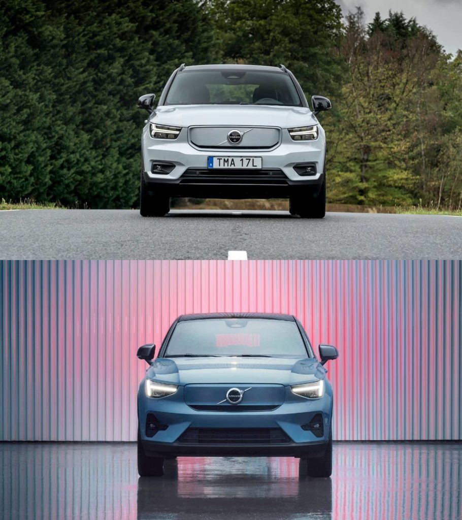 Volvo C40 Recharge vs. Volvo XC40 Recharge front