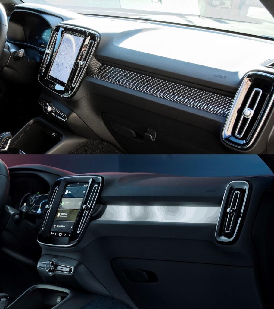 Volvo C40 interior vs. Volvo XC40 Recharge interior