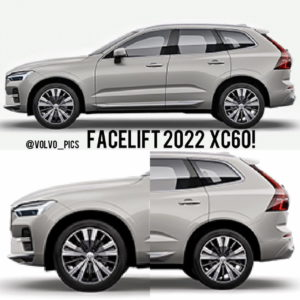 2022 Volvo XC60 facelift profile side mild-hybrid